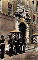 Principaute de Monaco Ansichtskarte ~1950/60 La garde Princière devant le Palais