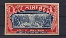 Ancienne étiquette Eau Minérale Belgique Gand