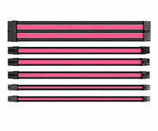 Thermaltake TtMod Sleeve Cable (Cable Extension) – Pink/Black, AC-046-CN1NAN-A1