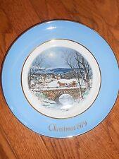 "Avon ""Dashing Through The Snow"" Christmas Plate 1979"