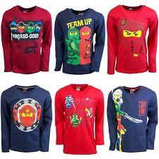 Boys Girls Kids Children Lego Ninjago Long Sleeve T Shirt Top age 3-12 years
