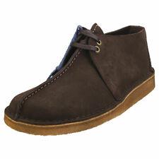 Clarks Originals Desert Trek Mens Dark Brown Suede Desert Shoes