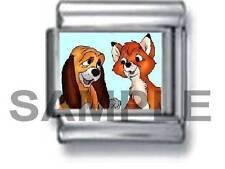THE FOX AND THE HOUND 9MM ITALIAN PHOTO CHARM LINK cartoon