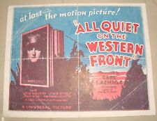 "Old vintage Hollywood Paper Movie Herald of ""All Quiet On The Western Front"" USA"