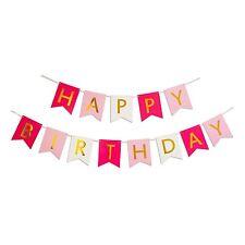 Happy Birthday Bunting Banner Garland Baby Shower Birthday Party Decoration M