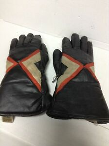 SKI-DOO MENS XL SNOWMOBILE COLD WEATHER VINTAGE LEATHER GLOVES
