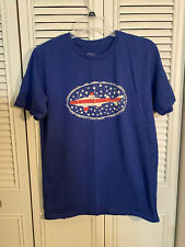 Dogfish Head Brewery Men's Blue Patriotic Shark T-Shirt  Size M  Beer Ale IPA