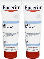 Eucerin Calming Creme Daily Moisturizer w/ Oatmeal 8oz ( 2 pack )