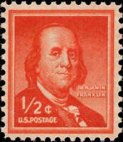 Scott#: 1030 - ½c Benjamin Franklin Single Stamp MNH OG