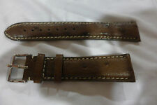 Brand New Genuine Brown Ostrich Watch Strap 21mm, Made in USA, MSRP: $350