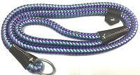 Dog Slip Lead Walk Nylon Rope 150cm x 12mm  Strong Multi Colours
