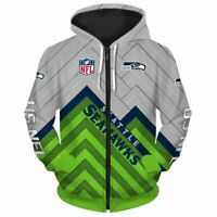 SEATTLE SEAHAWKS Hoodie Hooded Pullover S-5XL NFL Football 2019 NEW DESIGN