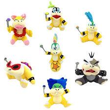 7X Super Mario Bros Koopalings Larry Iggy Lemmy Ball Roy Ludwig Koopa Plush Toy
