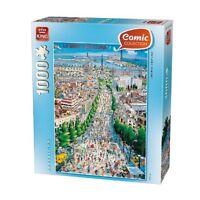 NEW! King Barcelona 1000 piece comic cartoon jigsaw puzzle
