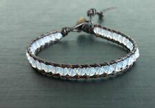 One wrap opal stone leather Bracelets friendship bracelets men women boy girl