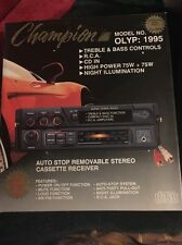 NEW Champion Model OLYP 1995 Car Cassette Stereo New In The Box NOS