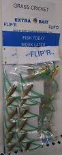 "Lot of 12 -Beaver Fishing Spinner Lure "" Grass Cricket  ""  FLIP'R  FLIP'O"