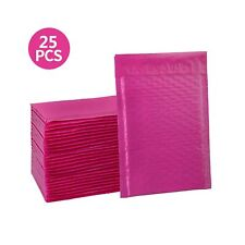 hblife 6x10 Inches Poly Bubble Mailers Self Seal Hot Pink Padded Envelopes, P.