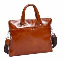Super Quality Italian Leather TAN Briefcase Office Bag Messenger Business Bag