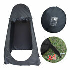 Portable Pop Up Toilet Shower Tent Camping Privacy Changing Room Bathroom Black