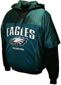 Philadelphia Eagles NFL Jersey Hoodie Sweatshirt Pullover Green Team Colors SALE