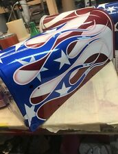 Custom Painted American Flag Flame Mailbox Ol Glory Marines Air Force Navy