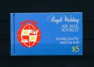 D191077 Guyana Booklet MNH Royal Wedding Princess Diana Flowers Orchids