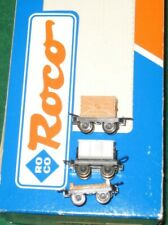 ROCO HOe 009 1:87 Narrow Gauge Lot of 3 Rolling Stock Wagons & Flat Car