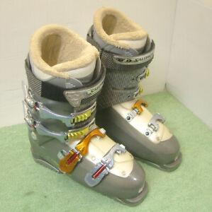 Salomon Irony 8 Women's Ski Boots, Size Mondo 26.5 UK 8 in Grey / Ivory Trim