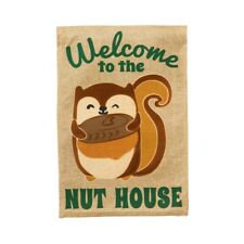Welcome to the Nut House Squirrel Garden Flag! Make An Offer!