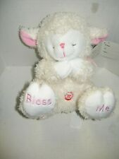 """Praying Lamb by Fiesta, Stuffed, Pink, Plays """"Now I Lay Me Down."""", Girl, New"""