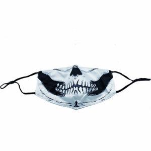 Halloween Skull bike Motorcycle Face Mask Reusable Washable Protection Cover USA