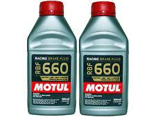 (2X 500mL) MOTUL RBF 660 FACTORY LINE 100% SYNTHETIC DOT 4 RACING BRAKE FLUID