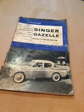 VINTAGE P.OLYSLAGER MOTOR MANUALS 13 SINGER GAZELLE THE SUNDAY TIMES