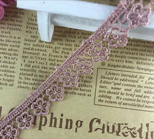 5 Yards Vintage Cotton Flowers lace Crochet Trim Wedding Bridal Ribbon Sewing