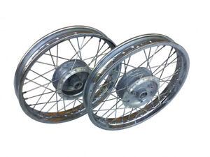 Speichenrad SET m. Stahlfelge Chrom für Simson S50 S51 Felge Rad 1,6x16 Zoll
