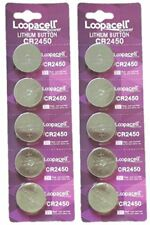 10 pcs CR2450 CR 2450 3v Lithium Batteries Button Cell Loopacell USA Fast Ship