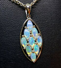 Sterling Silver 925 Genuine Coober Pedy Precious Solid Crystal Opal Pendant