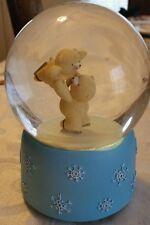 Vintage bear music snow globe music box