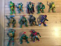 Vintage Teenage Mutant Ninja Turtles Figures X 12 2000s Original