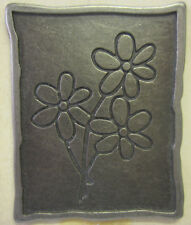 Making Memories Charmed Plaques Flower Bunch Pewter Tone 22675