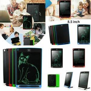 "UK 8.5"" Electronic Digital LCD Writing Pad Tablet Drawing Graphics Board Notepad"