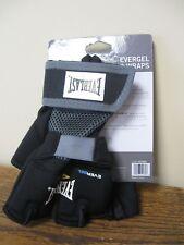 New! Everlast EverGel Hand Wraps Black X-Large