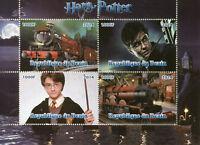 Benin 2014 CTO Harry Potter Hogwarts Express 4v M/S I Trains Rail Movies Stamps