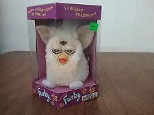 Furby Tiger Electronic 1998 Talking  Model 70-800 White & Tan Original Box