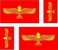 4 x Aufkleber Auto Sticker tuning motorrad Aramäisch Fahne Flagge