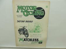 March 1947 MOTORCYCLING Magazine Matchless Clubman G3/L G80 L9779