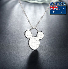 Wholesale-925-Sterling-Silver-Filled-Mickey-Mouse-Pendant-Chain-Necklaces