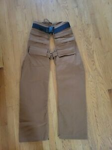 Gary Nesse Missoula MT Men's Canvas Hunting Chaps Size M never used mint