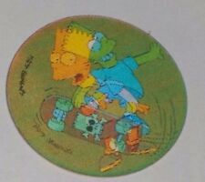 1996 The Simpsons Magic Motion Tazo #177 Bart Simpson - skateboarding